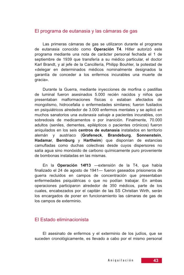 Página 43 de la Guía Didáctica de la Shoá