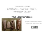NEOLITHIC'S TOOLS