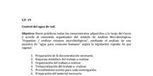 CONTROL MICROBIOLÓGICO DEL AGUA DE RED
