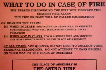 Instrucciones en caso de incendio