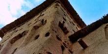 Tejado de caña y adobe con dos alturas, Marruecos