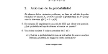 Lista de problemas de probabilidad