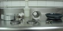 Componentes de una máquina picadora de carne