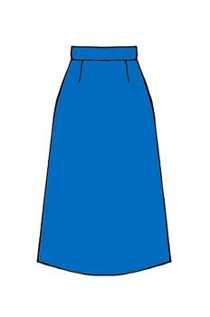 Falda de línea evasée con pinzas