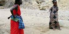 Mujer y niña, Rep. de Djibouti, áfrica