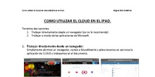 Trabajar con Cloud de EducaMadrid con un iPad