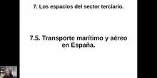 0705 Transporte aéreo y marítimo en España