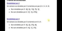 Reglas de divisibilidad