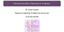 Distancias de elementos geométricos en el espacio.