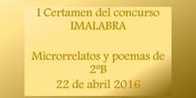 I Certamen Concurso IMALABRA. Alumnos 2ºB