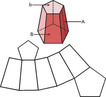Tronco de pirámide regular y su desarrollo