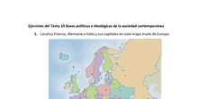 Ejercicios del Tema 10 Bases políticas e ideológicas de la sociedad contemporánea