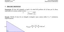 Área de triángulos