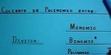 Polinomio entre Polinomio