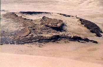 Formación rocosa en el desierto de Manawatu, Nueva Zelanda