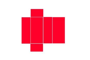 Desarrollo de un prisma recto de base rectangular