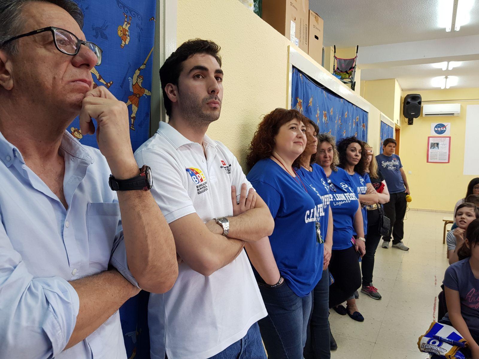 Los jugadores del C.F. Leganés visitan el cole 7