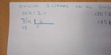 División con número de tres cifras en el dividendo