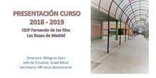 Presentación del Curso Escolar 2018-2019. CEIP Fernando de los Ríos. Las Rozas de Madrid