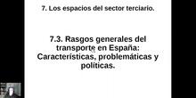 0703 Rasgos generales del transporte en España