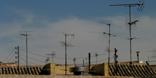 Antenas en los tejados de Toledo, Castilla-La Mancha