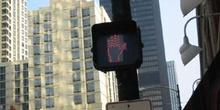 Detalle semáforo en Chicago