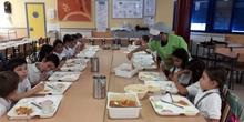 Primer día de comedor en Educación Primaria