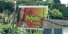 Cartel de propaganda de una marca de café, Pernambuco, Brasil