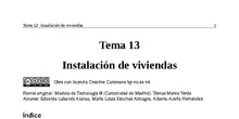 Tema 13: Instalación de viviendas