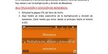 1º ESO A/E Multiplicación y división de monomios. Documento 4 ÁLGEBRA