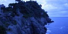 Acantilado al amanecer, Portofino