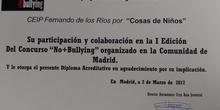 Premio Concurso No+Bullying Cruz Roja 2017_Ceip Fernando de los Ríos