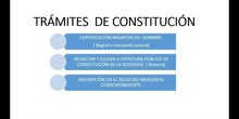 TRÁMITES  DE  CONSTITUCIÓN DE UNA EMPRESA