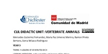 CLIL DIDACTIC UNIT VERTEBRATE ANIMALS NATURAL SCIENCE YEAR 3