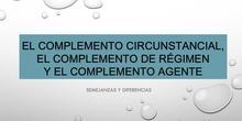 COMPLEMENTO CIRCUNSTANCIAL, COMPLEMENTO DE RÉGIMEN Y COMPLEMENTO AGENTE