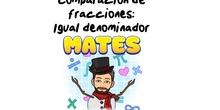 4º Matemáticas Comparación de fracciones con igual denominador.