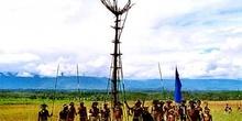 Detalle de atalaya tribal, Irian Jaya, Indonesia