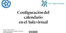 Configuración del calendario en el Aula virtual