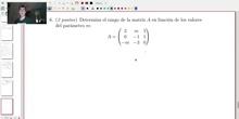 Matrices y Determinantes - Examen B Ejercicio 6