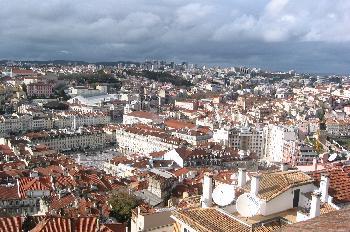 Alfama desde el Castillo de San Jorge, Lisboa, Portugal