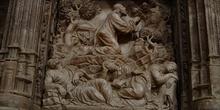 Escena de Jesús rezando en monte de los Olivos, Huesca