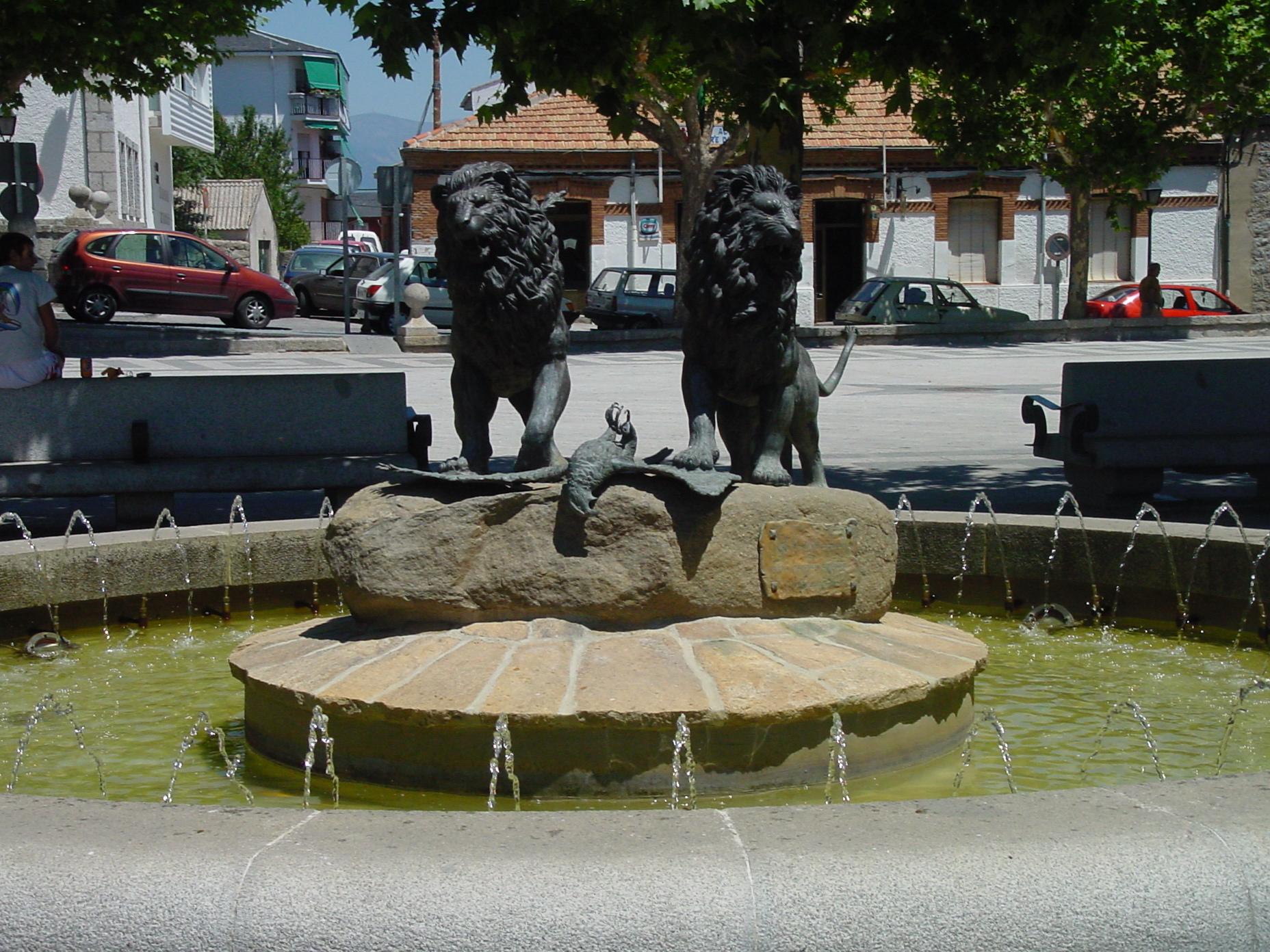 Fuente de Leones en El Escorial