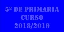 Curso 2018/2019 5º de PRIMARIA