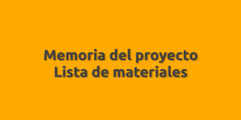 Proyecto: lista de materiales.