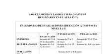 Exámenes y recuperaciones Distancia 2017/18