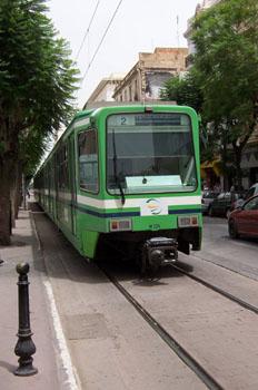 Tranvía, Túnez