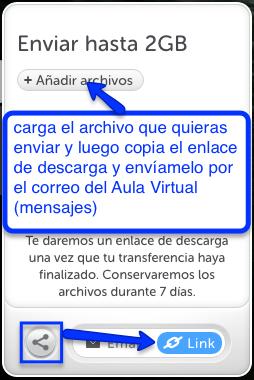 Enviar un archivo por Wetransfer