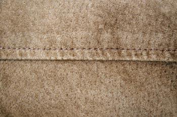 Costura cargada a un cm para piel