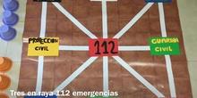 PRIMARIA 3º A - JUEGO TRES EN RAYA 112 EMERGENCIAS - ALVARO QUINTANO - ACTIVIDAD
