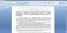 UNIDAD 3. ELEMENTOS DE LA MÚSICA: RITMO Y MELODÍA, PARTE I